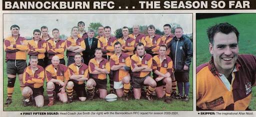 Bannockburn Rugby Club newspaper clipping from 2000 season