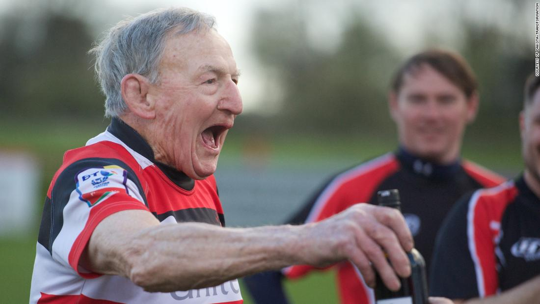 Easton Roy celebrating at Stirling County
